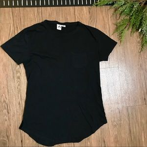 Three Feathers Anthropologie Pocket Tee Black